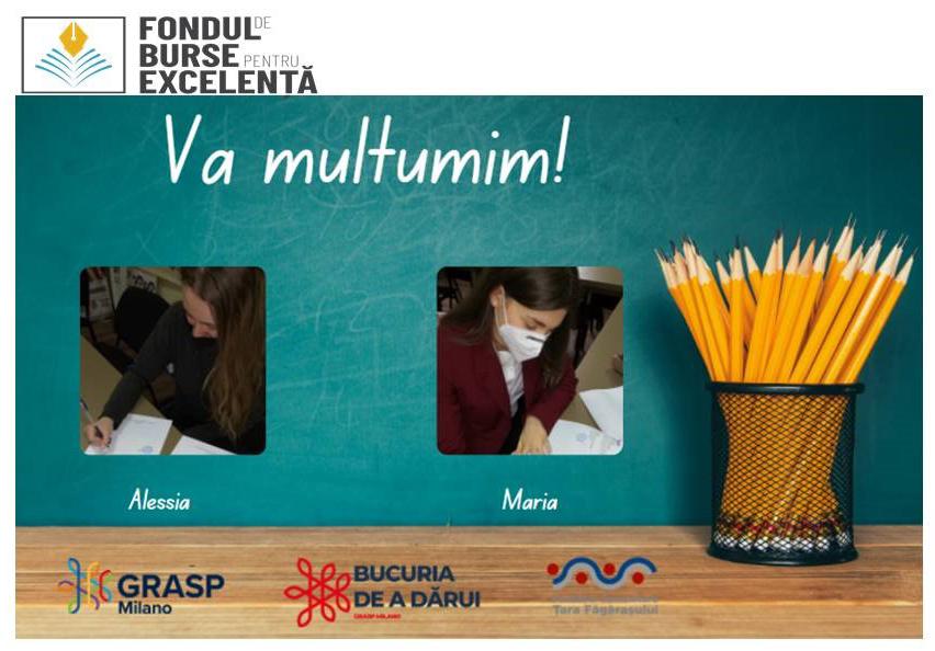 Maria Cucu și Alessia Andreiaș au intrat în posesia Burselor de Excelență de la GRASP Milano și FCTF