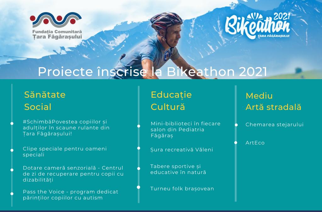 10 proiecte înscrise la Bikeathon Țara Făgărașului 2021