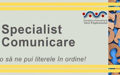 Fundația Comunitară Țara Făgărașului caută specialist comunicare & PR